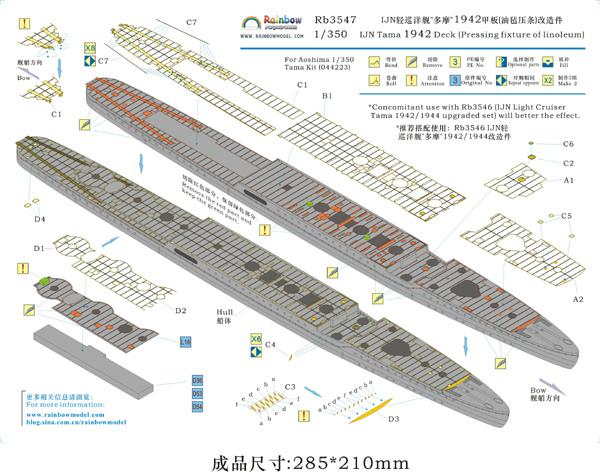 IJN Light Cruiser Tama a 1/350 de Aoshima Rainbo10