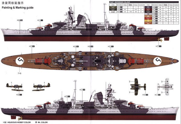 DKM Admiral Hipper Heavy Cruiser a 1/350 de Trumpeter Trumpe10