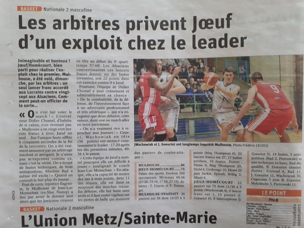 [J.24] Mulhouse Pfastatt BA (1er) - Joeuf Homecourt Basket (7ème) : 84-75 - Page 3 78da2a10