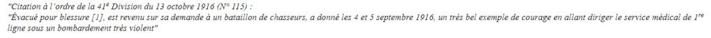 Georges Pageix Médecin-major au 46° et 6° BCA. Gp1910