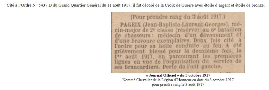 Georges Pageix Médecin-major au 46° et 6° BCA. Gp2410