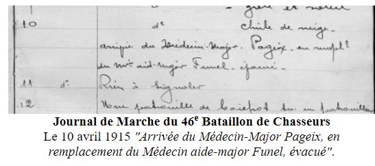 Georges Pageix Médecin-major au 46° et 6° BCA. Gp710