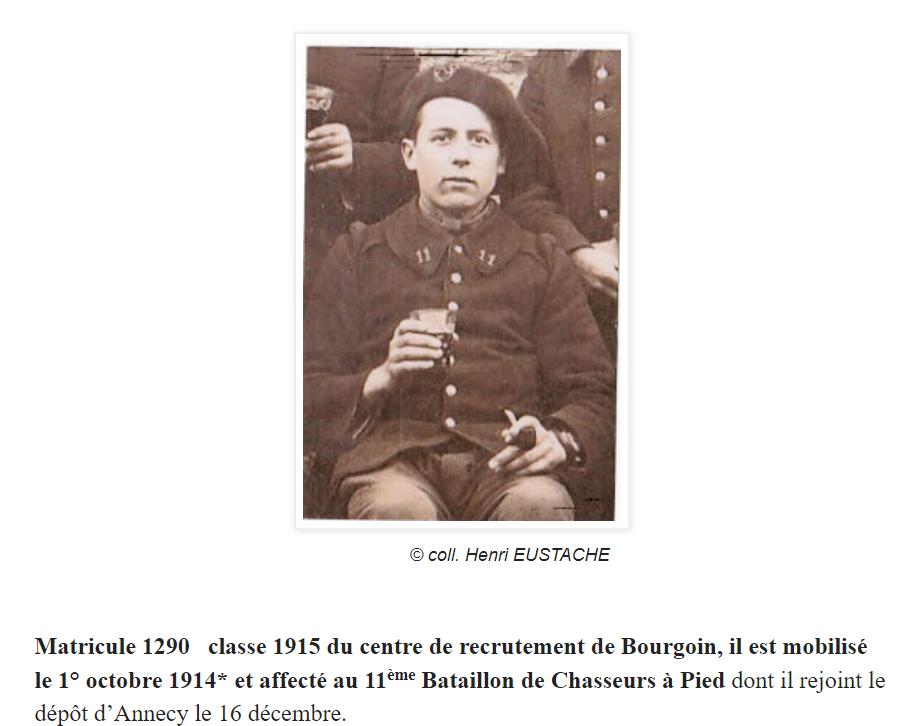Victor Eustache, chasseur du 11° BCP. Ve110