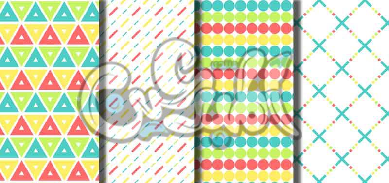 باترن اشكال هندسية ملونة  Playfu10