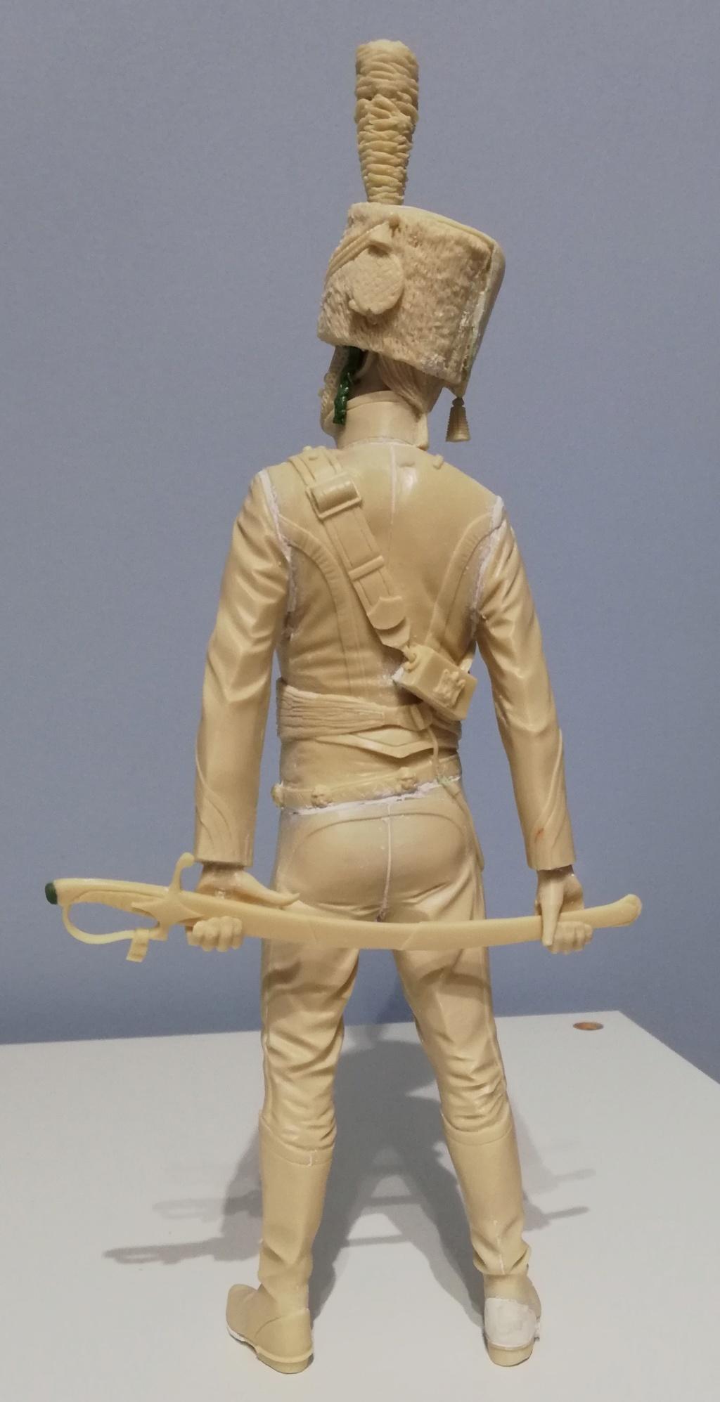 Capitaine du 2ème régiment de Hussards - première mise en peinture Capita21