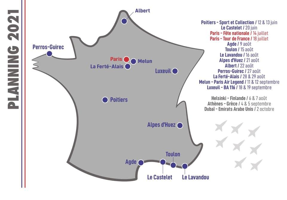Calendrier meetings patrouille de France 19814811