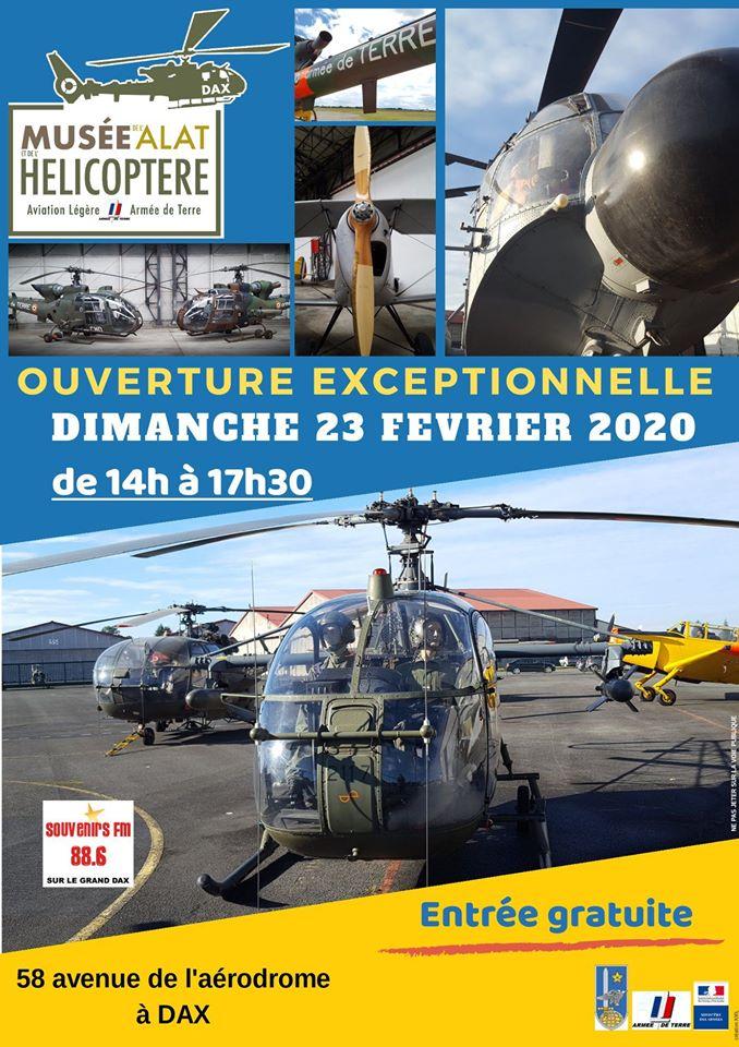 23 février: JPO musée Hélicoptère de Dax (40) 85105611