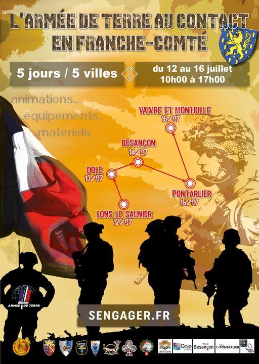 Du 13 au 16 juillet: l'armée de Terre en Franche-Comté Juille15