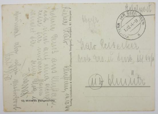 Carte postale Luftwaffe flak 636b1010