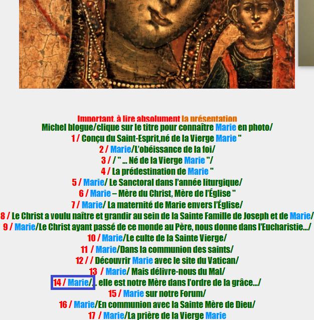 Important, à lire absolument la présentation de la page du mois de Marie, avant votre navigation/ Marie_13