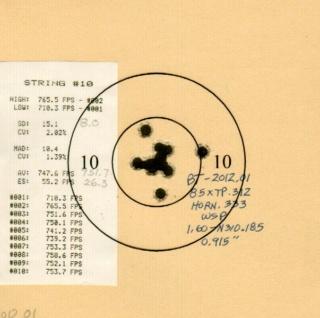 Tests: 85gr XTP in 32 acp 314_2011