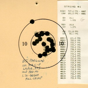 Pardini 32 WadCutter Barrel Test Par6wa11