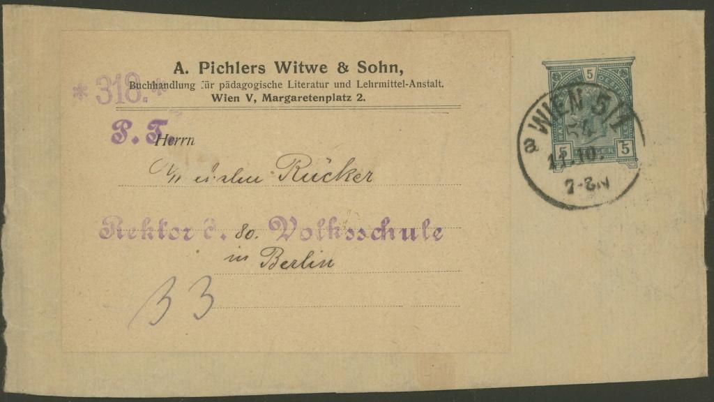 Privatganzsachen von A. Pichlers Witwe & Sohn 1-pa_610