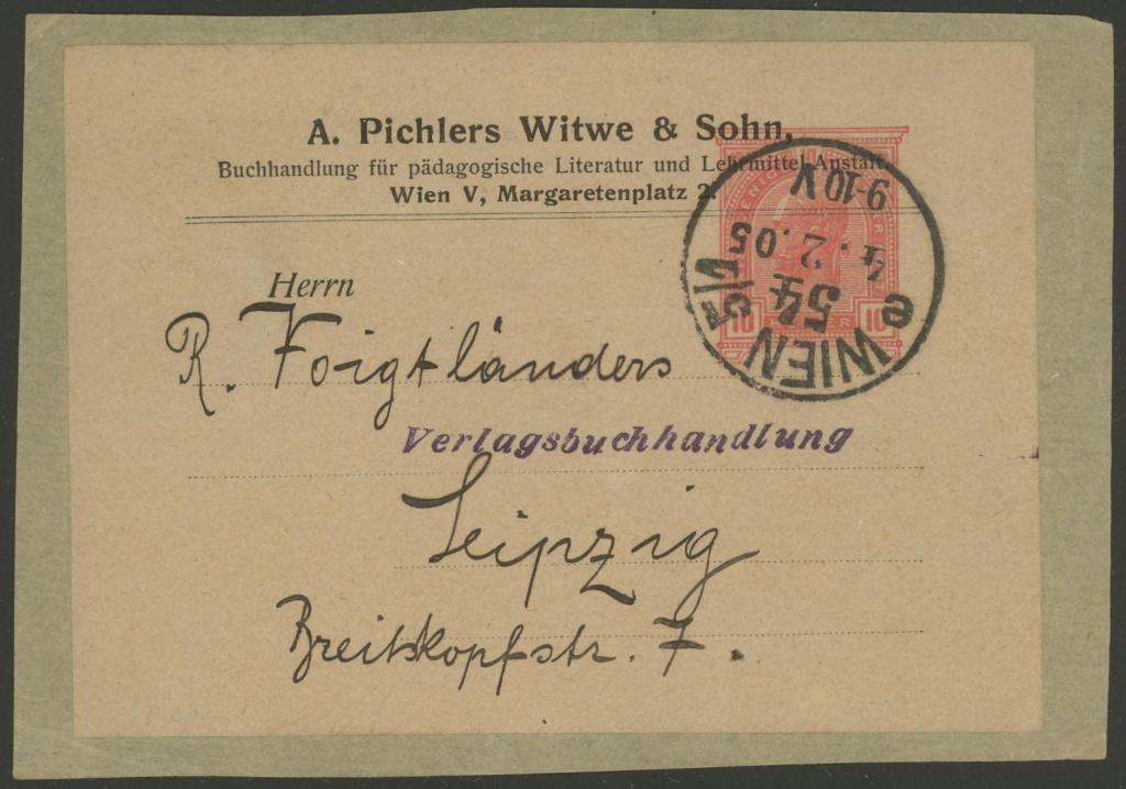 Privatganzsachen von A. Pichlers Witwe & Sohn 1-pa_810