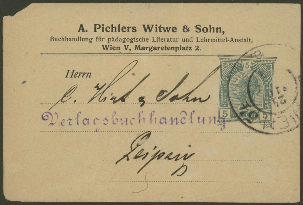 Privatganzsachen von A. Pichlers Witwe & Sohn 2-pa_610