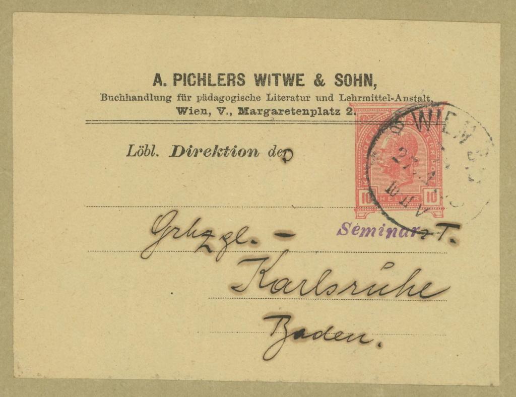 Privatganzsachen von A. Pichlers Witwe & Sohn 3-pa_810