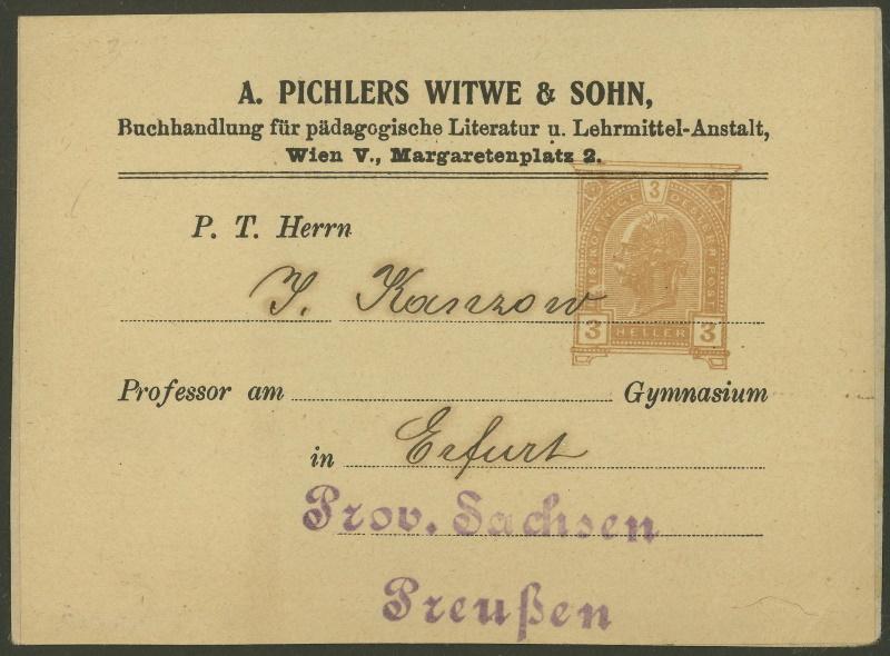 Privatganzsachen von A. Pichlers Witwe & Sohn C_104x11