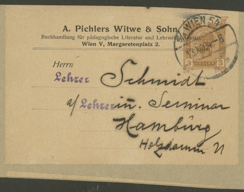 Privatganzsachen von A. Pichlers Witwe & Sohn D_104x10