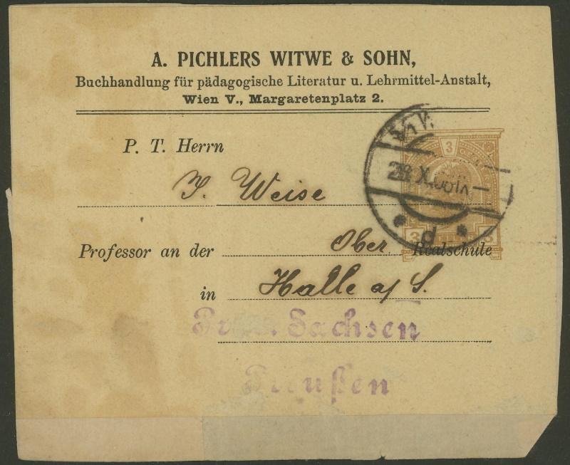 Privatganzsachen von A. Pichlers Witwe & Sohn E_104x10