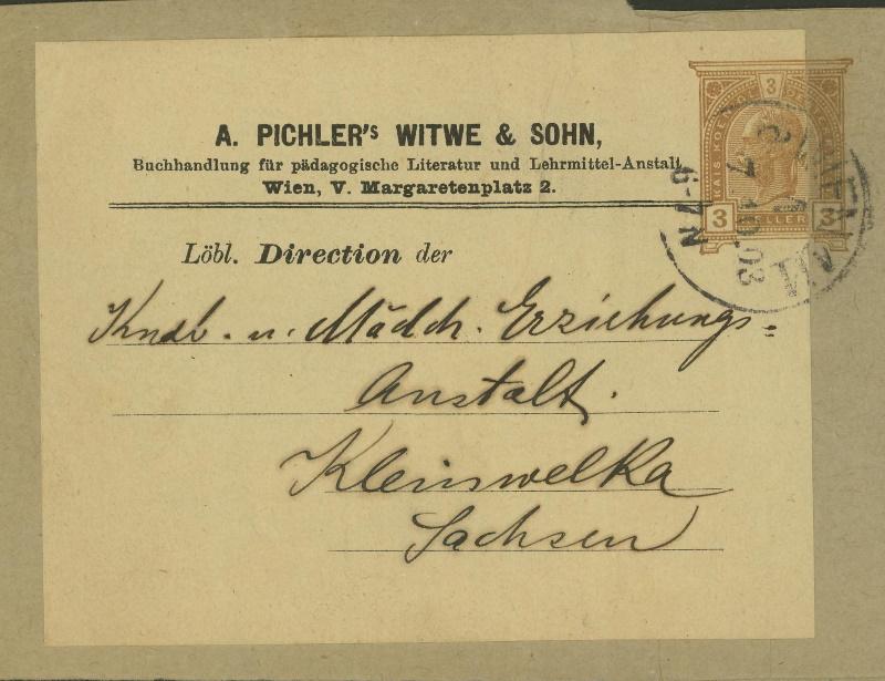 Privatganzsachen von A. Pichlers Witwe & Sohn F_101x10