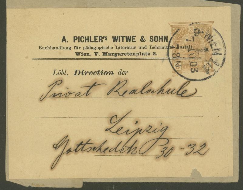 Privatganzsachen von A. Pichlers Witwe & Sohn G_106x10