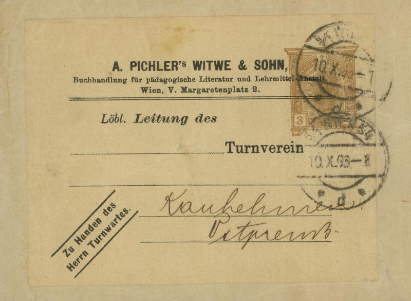 Privatganzsachen von A. Pichlers Witwe & Sohn H_111x10
