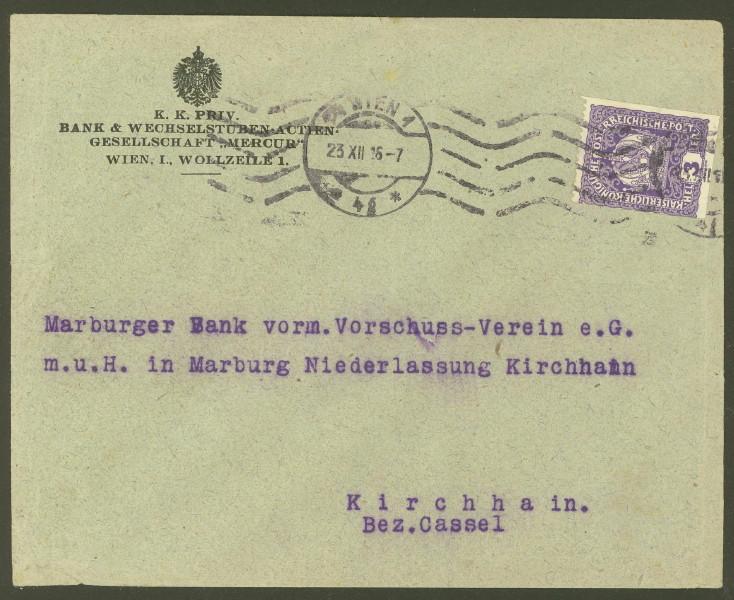Briefe / Poststücke österreichischer Banken - Seite 4 Mercur10