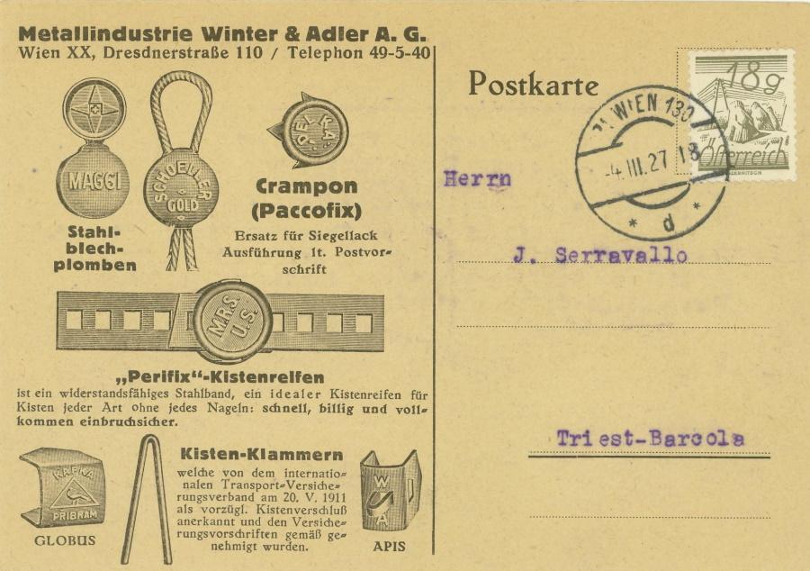 Werbeumschläge und -karten aus Österreich - Seite 7 Metall11