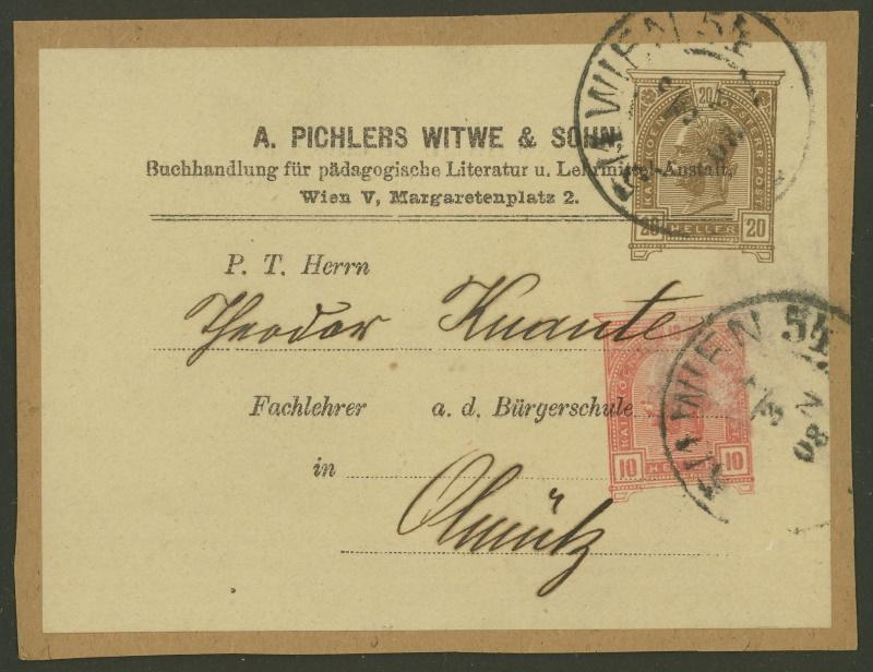 Privatganzsachen von A. Pichlers Witwe & Sohn Pa_10210