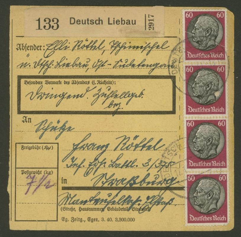 Sudetenland - Stempel mit und ohne Belege Tschim10