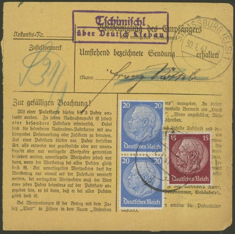 Sudetenland - Stempel mit und ohne Belege Tschim11