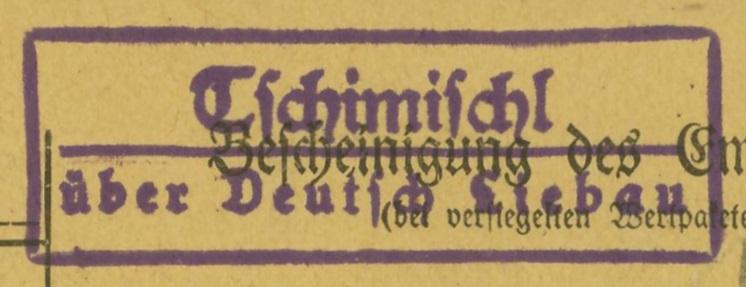 Sudetenland - Stempel mit und ohne Belege Tschim12
