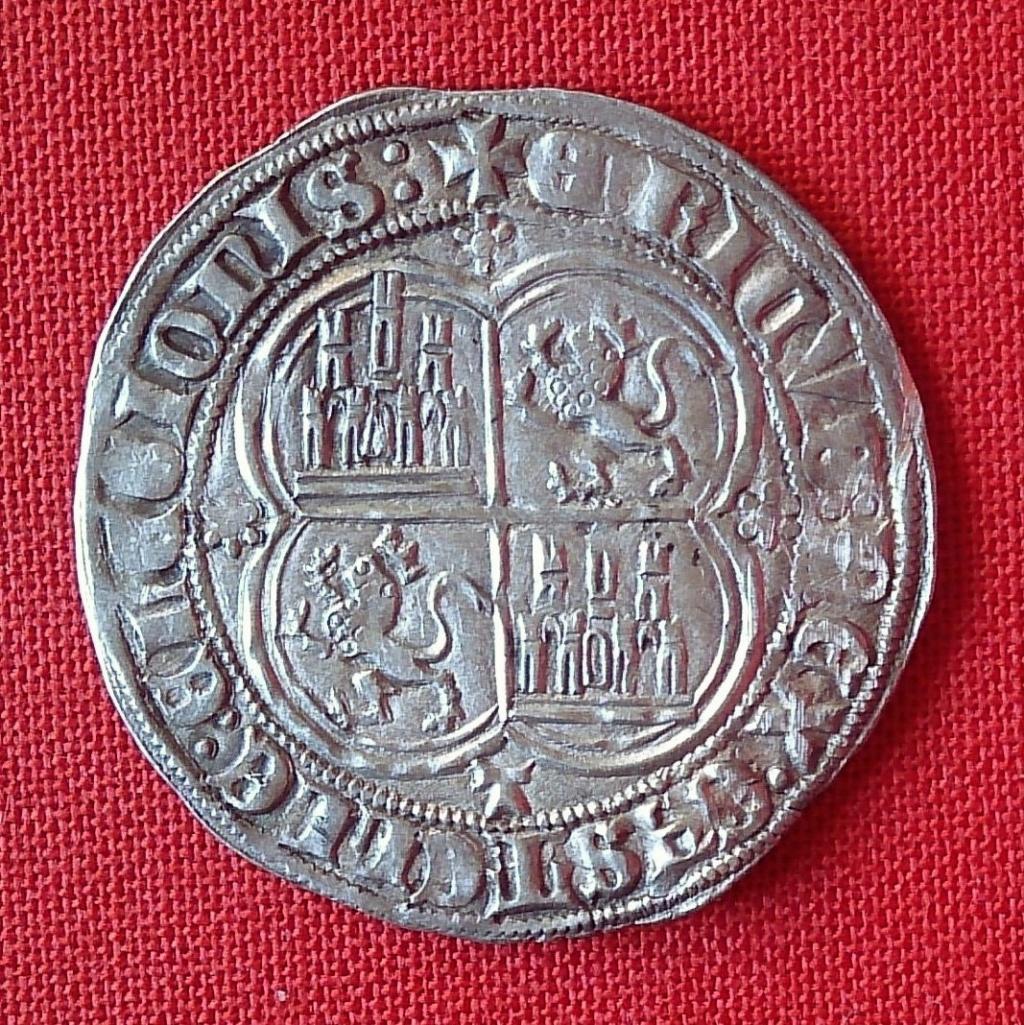 Real de Enrique II. Toledo (emisión 1373 d C.) 1368b10