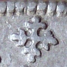 Escudo de la Cruz de Borgoña, 1567 Felipe II. Ceca de Nimega 1567d10