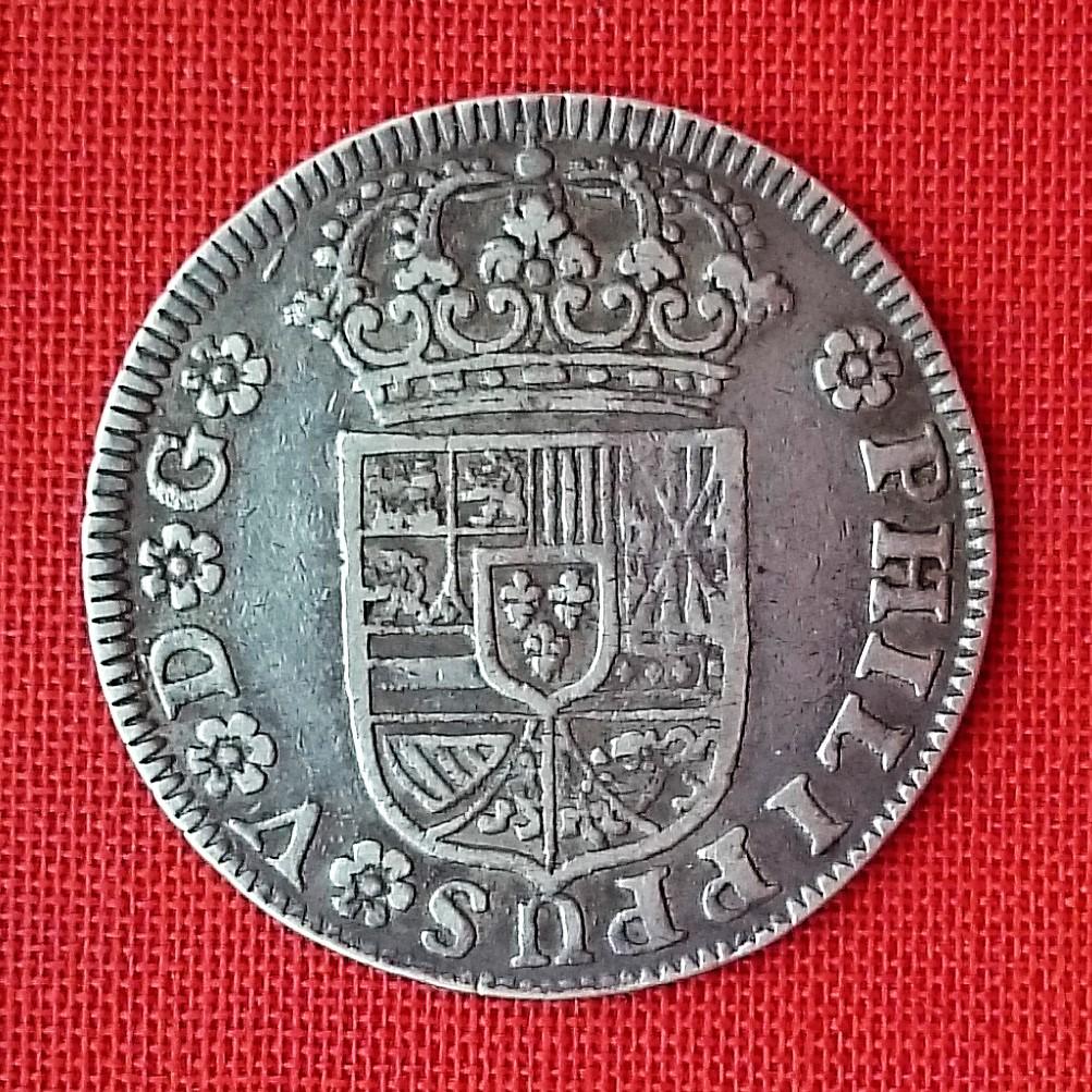 Felipe V – 2 Reales sin indicación de valor, 1730 ceca Sevilla 1730a10