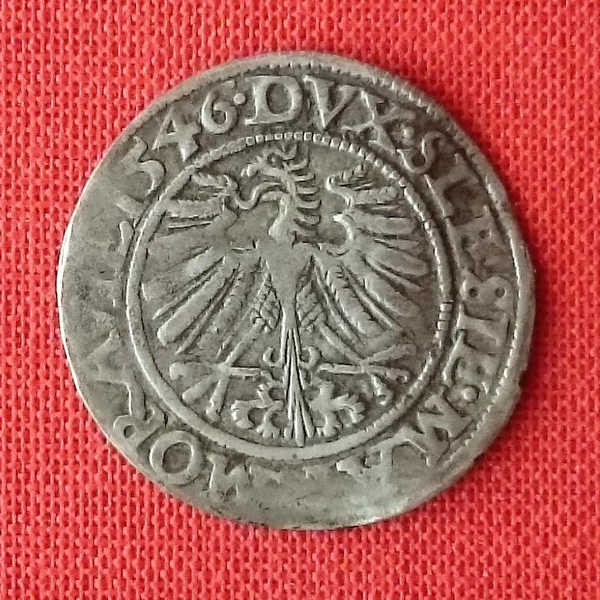 3 kreuzer (groschen) del Ducado de Silesia. 1546 2019-011