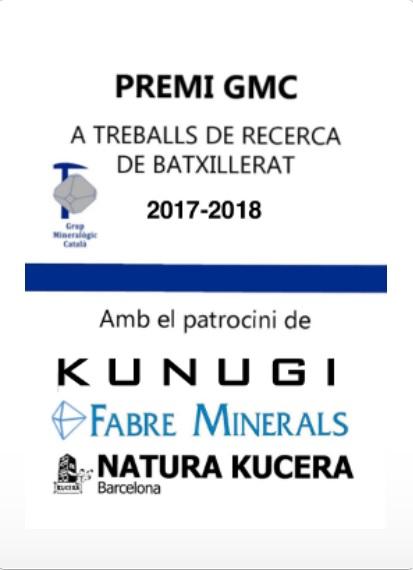 Convocatòria Premi GMC de Treballs de Recerca de Batxillerat 2017-2018 112