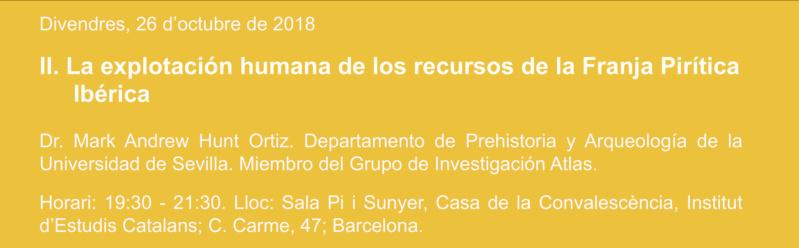 Conferència Inaugural Cicle Conferències Mineralògiques de Tardor 2018 Baner_10