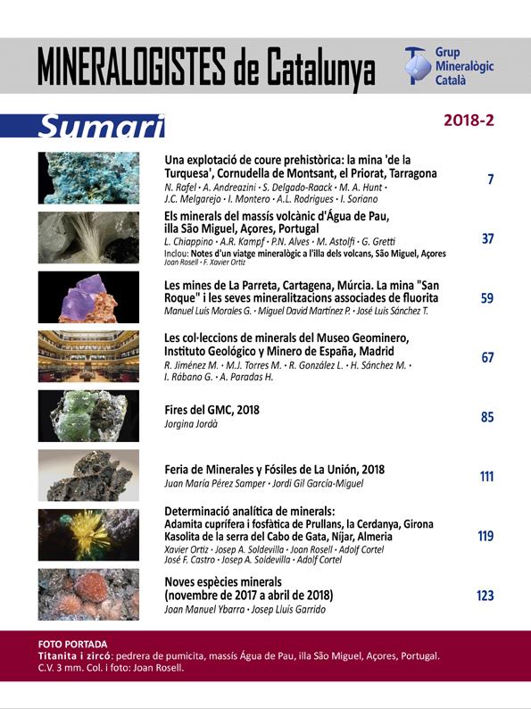 Mineralogistes de Catalunya y Paragénesis 2018 / 2 Mdc_2010