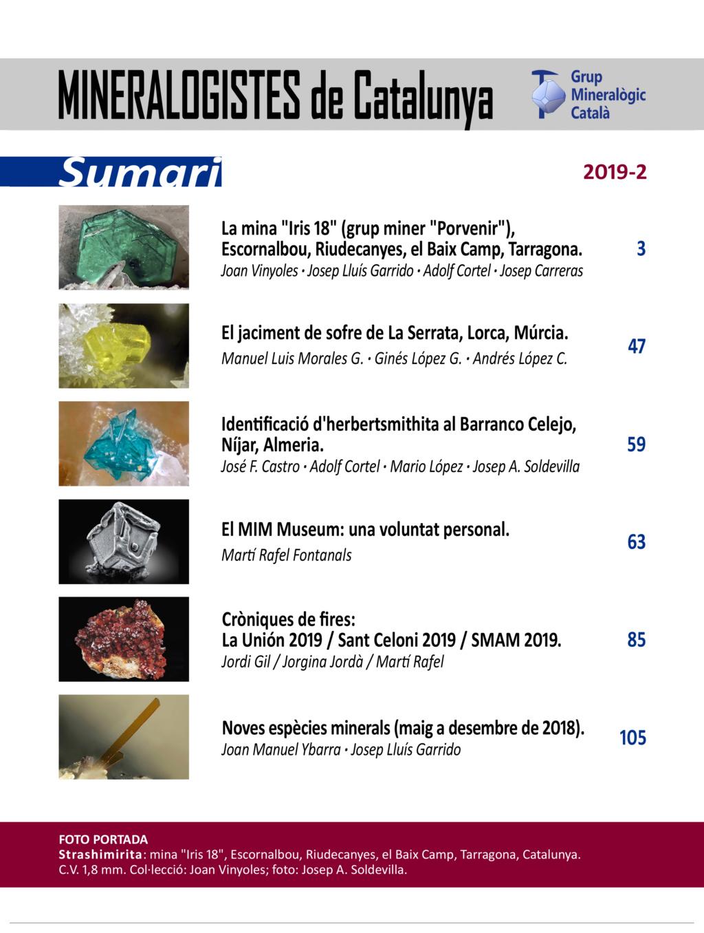 Mineralogistes de Catalunya y Paragénesis 2019 / 2 Mdc_2013