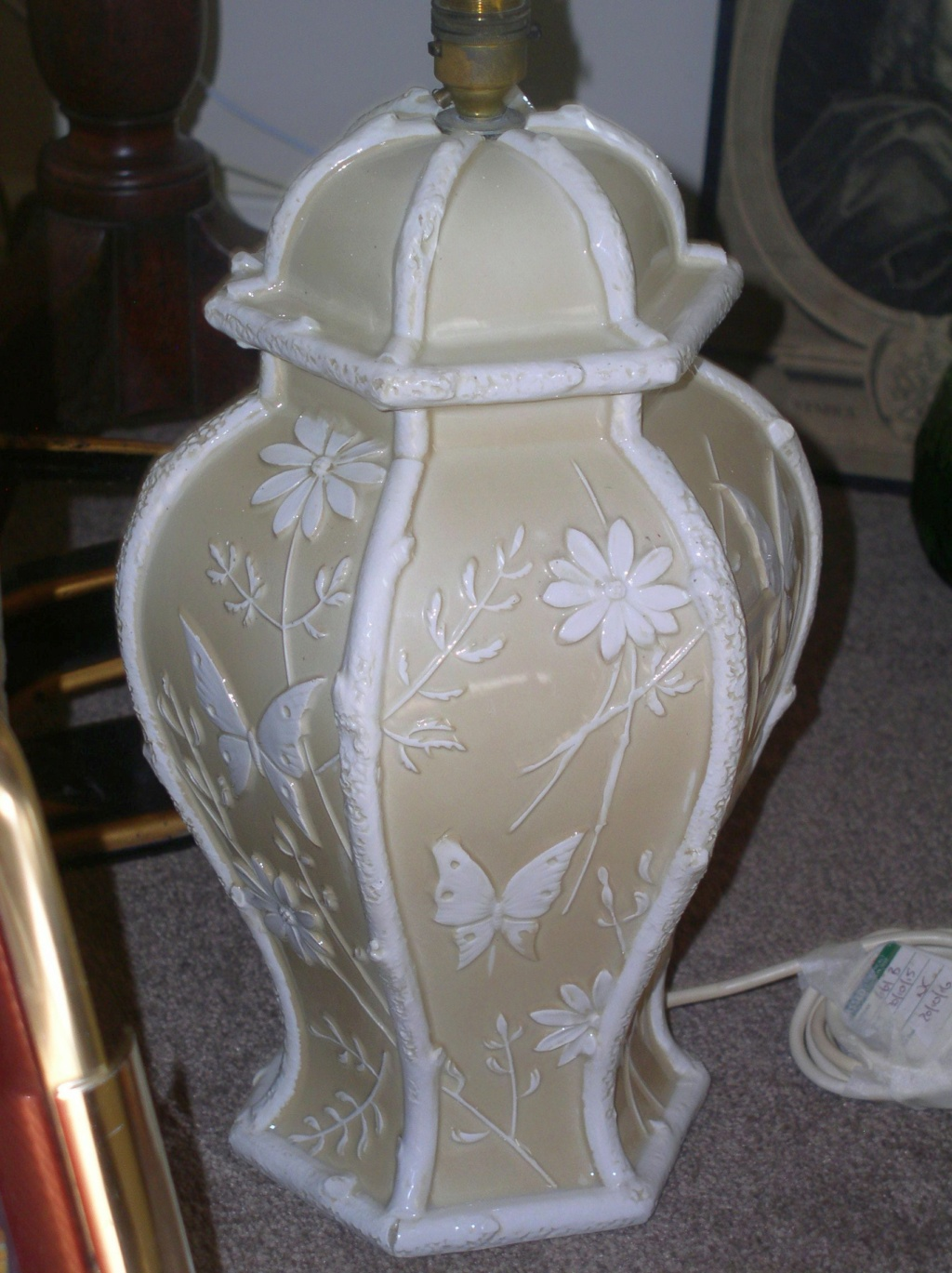Unusual large pottery lamp base 1950's maybe? P1010033