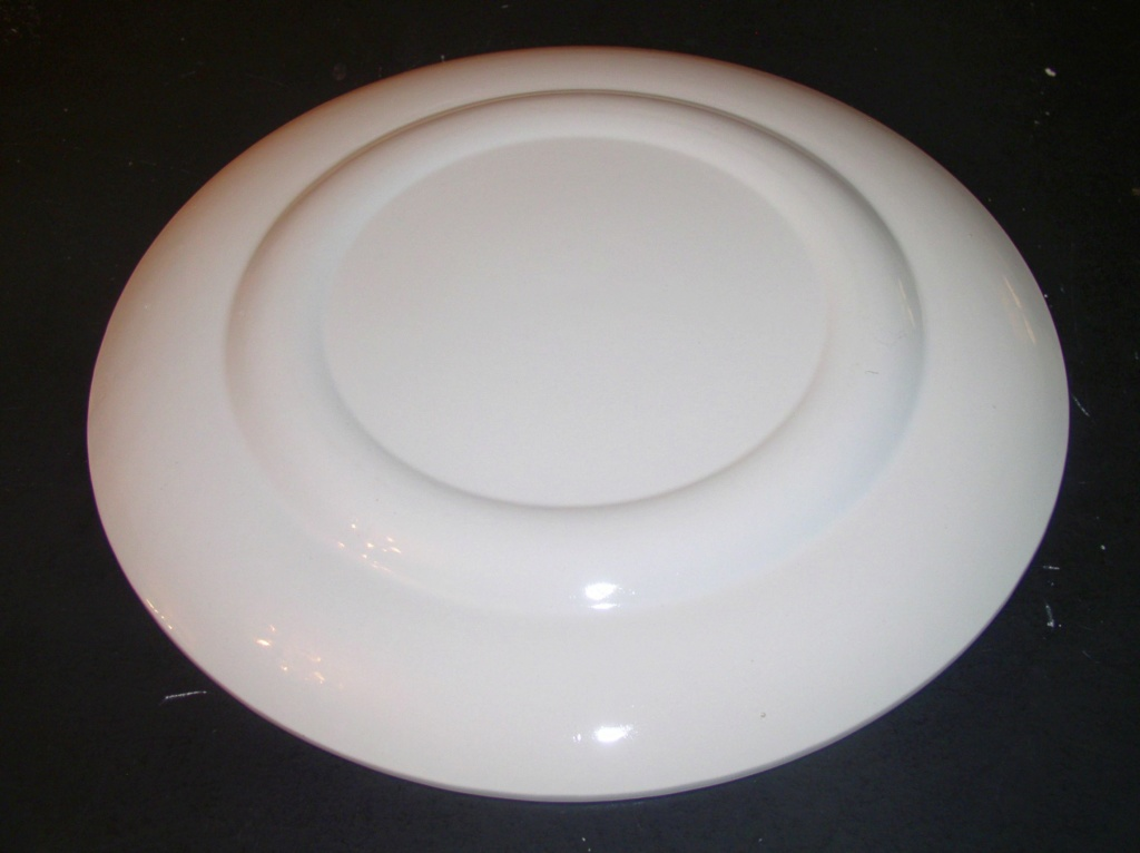 """Unusual Large 14"""" Platter Plate Weird Designs Marked H in the design ??? P1010510"""