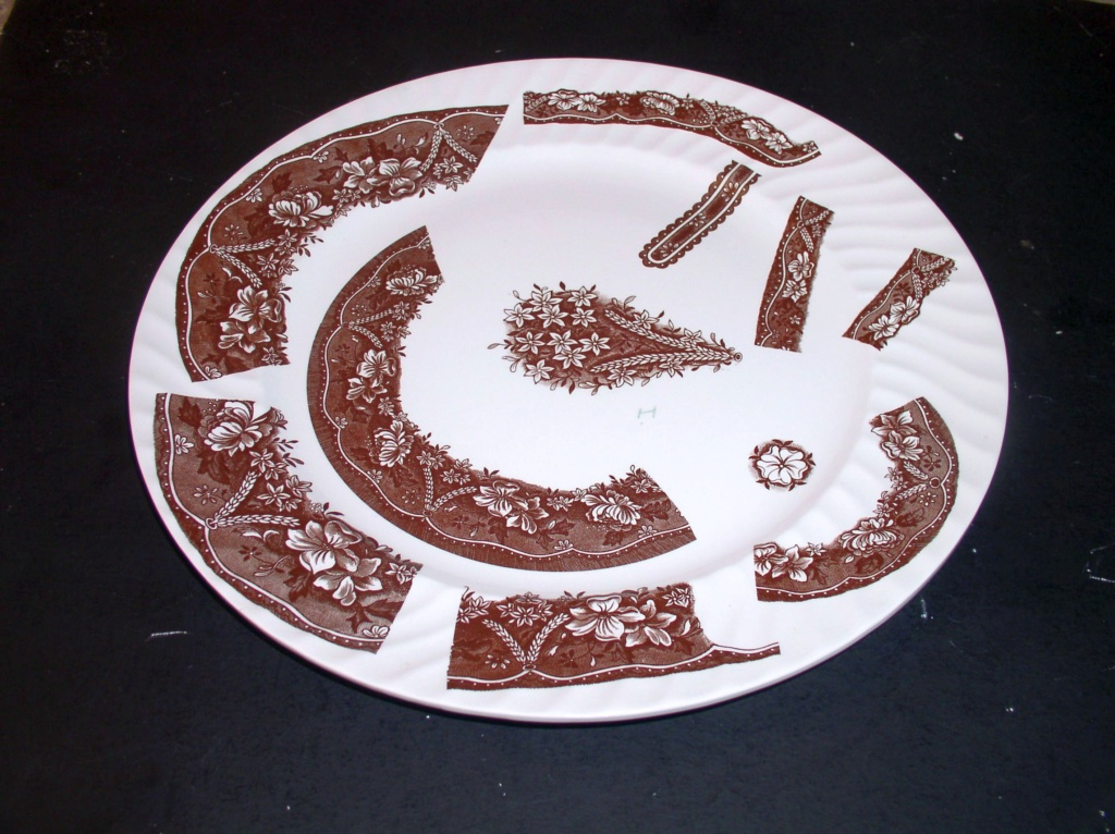 """Unusual Large 14"""" Platter Plate Weird Designs Marked H in the design ??? P1010512"""
