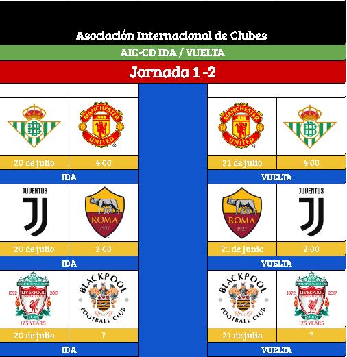 [AIC-CDv10] Horario Jornada 1 - 2 Jornad11