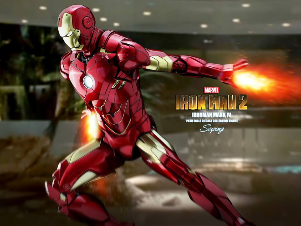 [Hot Toys] -Iron Man 2-Mark IV with Suit-Up Gantry 1/6 41068010