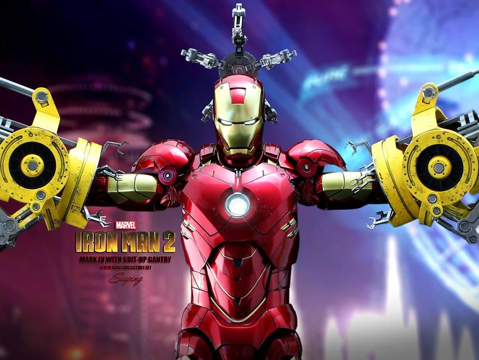 [Hot Toys] -Iron Man 2-Mark IV with Suit-Up Gantry 1/6 41280410