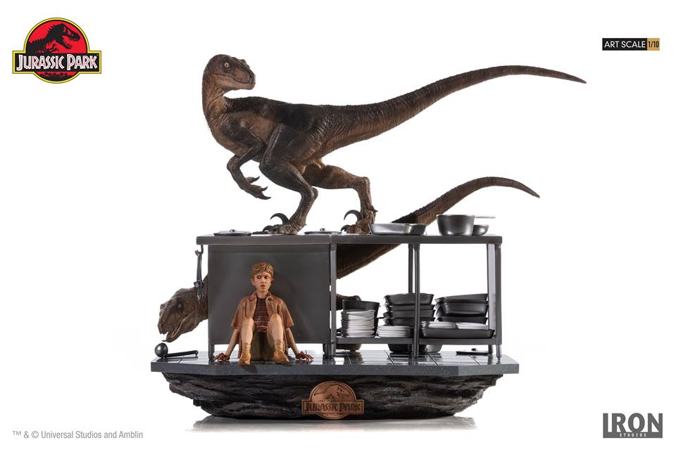 [Iron Studios] Jurassic Park- Velociraptors in the Kitchen Diorama Art Scale 1/10  42626010