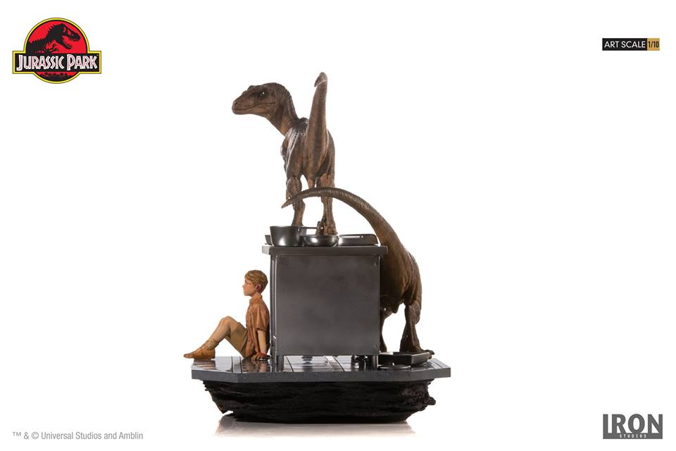[Iron Studios] Jurassic Park- Velociraptors in the Kitchen Diorama Art Scale 1/10  42635910