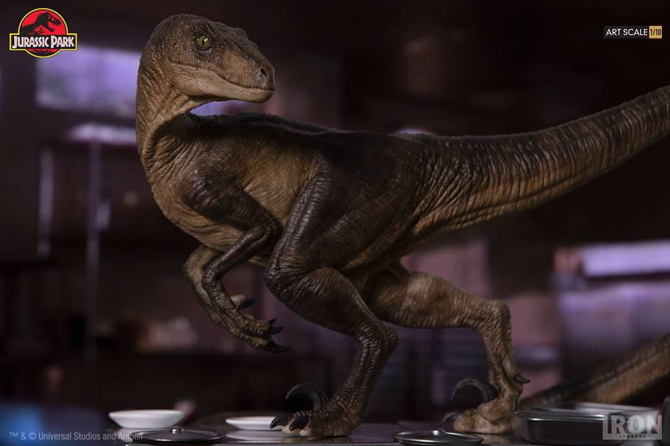 [Iron Studios] Jurassic Park- Velociraptors in the Kitchen Diorama Art Scale 1/10  42654110