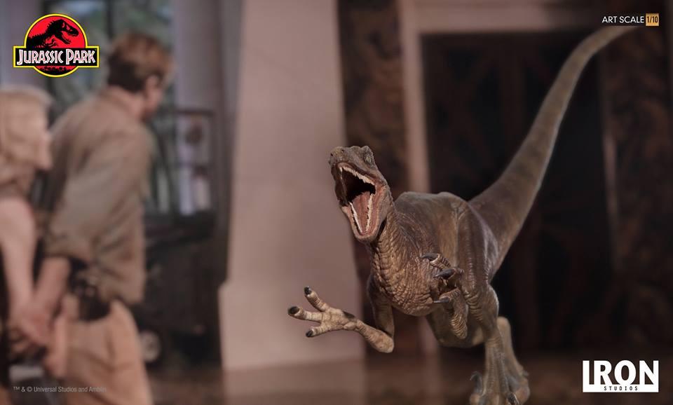 [Iron Studios] - Jurassic Park- Velociraptor Attack 1/10 42672010